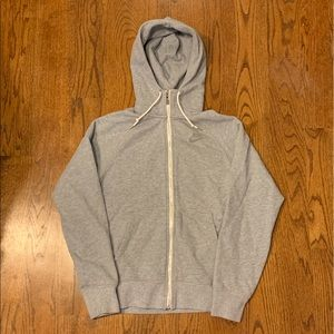 Nike silver gray zip up hoodie athletic size XS